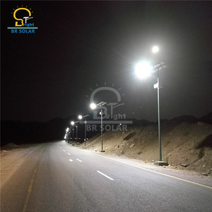 Popular 8M70W/9M80W Hanging Battery Solar LED Street Lights in Benin