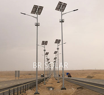 BR Solar team are guiding installation of solar street light in Saudi Arabia