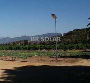 60W solar street light AIO in Chile